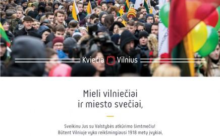 Vilniaus mero sveikinimas