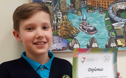 Vilniaus miesto anglų kalbos olimpiados laimėtojas!