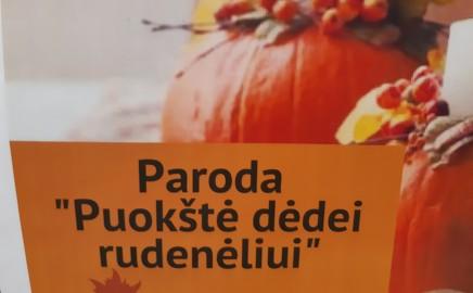 """Progimnazijos erdvę papuošė trečių klasių kūrybinių darbelių paroda """"Puokštė dėdei rudenėliui"""""""