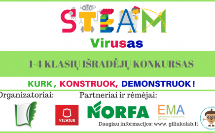 "1-4 kl. konkursas ""STEAM VIRUSAS"""