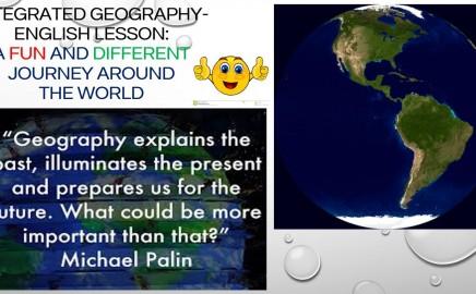 """Integruota anglų kalbos – geografijos pamoka """"A fun and different journey around the world"""""""