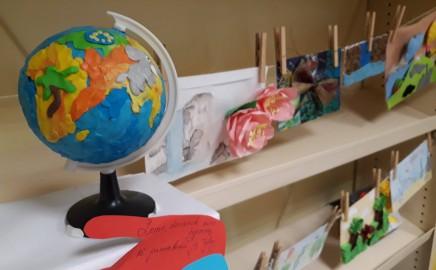 """Technologijų ir geografijos projektinių – kūrybinių darbų paroda """"Vokas Žemei"""""""