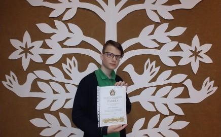 Pirmoji vieta Vilniaus miesto 8-ų klasių anglų kalbos olimpiadoje!