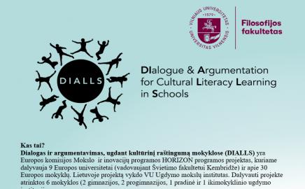 Dialogas ir argumentavimas, ugdant kultūrinį raštingumą mokyklose