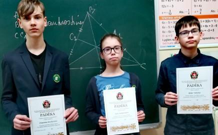 Vilniaus miesto 5-8 klasių mokinių Matematikos olimpiada