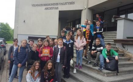 Penktokų edukacinė ekskursija Vilniaus regioniniame valstybės archyve