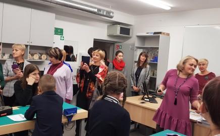 Progimnazijoje viešėjo pedagogai iš Ukrainos
