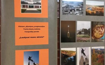 """Trečių klasių mokinių fotografijų paroda """"Lazdynai mano akimis"""""""