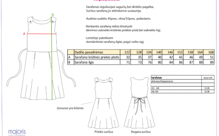 Informacija mokinių tėveliams dėl progimnazijos uniformos užsakymo